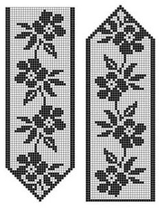 Picture consequence for filet crochet sample Knitted Mittens Pattern, Fair Isle Knitting Patterns, Knit Mittens, Knitting Charts, Weaving Patterns, Stitch Patterns, Crochet Patterns, Filet Crochet, Crochet Diagram