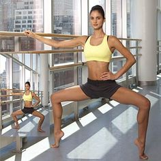 Ballet barre workout.