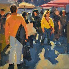 Carol Marine's Painting a Day: Morning Market