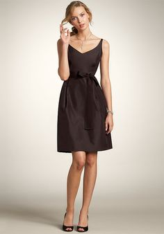 Wholesale Cheap A-line 2014 Absorbing Satin V-neck Empire Waist Knee Length Best Selling Dress