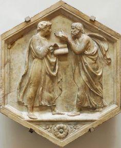 Luca della Robbia, Plato and Aristotle, 1437-39, Florence, Museo dell'Opera del Duomo