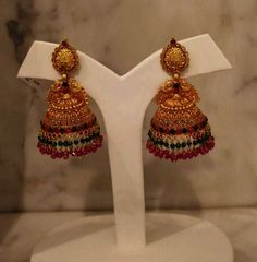 33 Best Jhumka Designs Images In 2019 Gold Body Jewellery Gold