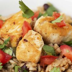 One-pot Cilantro Lime Chicken & Rice Recipe by Tasty