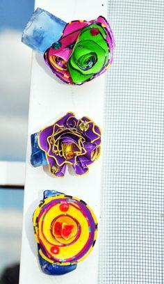 Blue Sea Glass Fridge MagnetsSet Three Sea by GinasCornerCrafts, $18.99