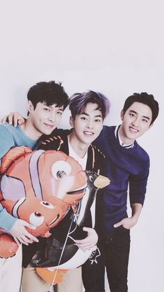 EXO || Lay, Xiumin and D.O wallpaper for phone