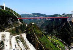 ponte suspensa mais alta do mundo !