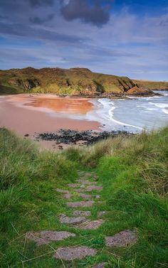 Hackley Bay in Aberdeenshire, Scotland