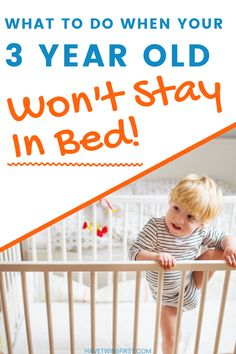 What to do when your 3 year old won't go to bed. Toddler sleep tips for getting your toddler to stay in bed. Toddler won't stay in bed? Try these tips. Pacifier Weaning, Toddler Sleep Training, Toddler Nap, 3 Year Olds, Sleep Schedule, How To Have Twins, Stay In Bed, Sleep Problems, 3 Years