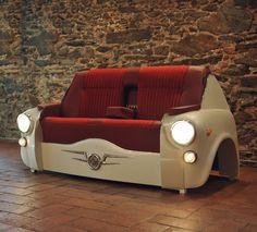 ESTÚDIO BEL & BEL: UM NOVO USO A PEÇAS CLÁSSICAS QUE NÃO PODEM MAIS SER RECUPERADAS #recicle #recycle #productdesign #vespa #scooterchair #furniture #mobiliário #oldcar #carroantigo