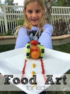 Here's a FUN and easy after School food art idea for kids that they will love and how to get kids to eat their vegetables! {ad}