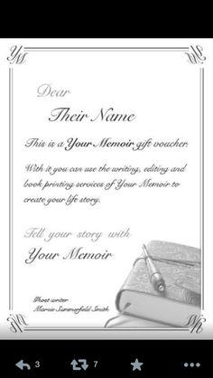 Gift Vouchers, Your Story, Memoirs, Create Yourself, Told You So, Writing, Prints, Ideas, Being A Writer