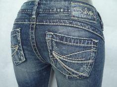 CHEAP SALE Low SILVER Distressed Tuesday Slim Bootcut Stretch Jean 26,29,30,34 #SilverJeans #BootCut