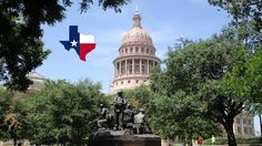 A proud glimpse at the Vietnam Veterans Monument and Texas Peace Officers' Memorial on the grounds of the Texas State Capitol building in the beautiful city of Austin that is nestled in the hill country of Texas with lakes and rivers around it.