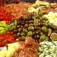 Antipasto Recipe | Martha Stewart Italian Antipasto, Italian Appetizers, Finger Food Appetizers, Finger Foods, Bacon Cheese Dips, Cheese Platters, Antipasto Recipes, Appetizer Recipes, Antipasti Platter