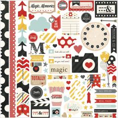scrapbook travel stickers - Google Search