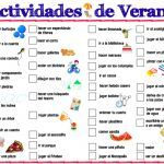 spanish printable summer