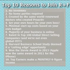 R+F = Great Business Opportunity