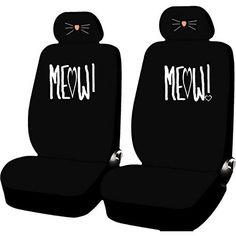 4Pc Cat Lover Meow Cute GirlyFront Seat Covers Universal Set