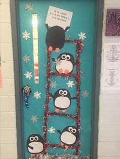 Penguin Christmas Classroom Door