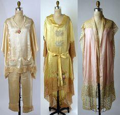 Pyjamas, negligée, and lingerie by Boué Soeurs, c. 1927-1929 #1920s - Of course, 20s lingerie beauties!