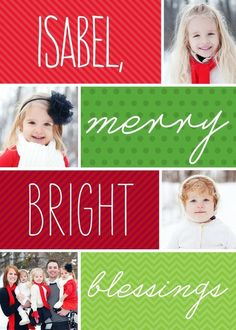 Merry Blessings - Christmas Greeting Cards in Bright Red | Magnolia Press