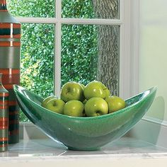 Contemporary Decorative Bowls Elliptical Compote  Solar  Solar Pedestal And Interiors