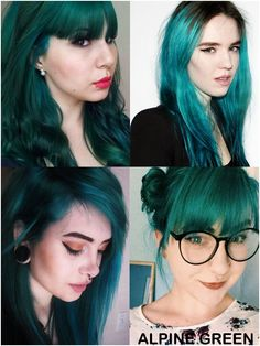 Coloring hair balsam - Alpine green #haircolor #brighthair #directions #lariche…
