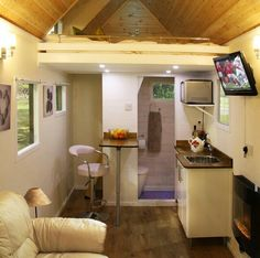 This tiny space looks like a hotel & How to Convert a Storage Shed to a Guesthouse | Pinterest | Gate ...
