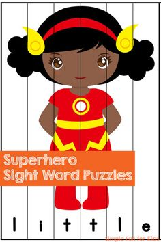 Read More About Superhero Sight Word Puzzles - Simple Fun for Kids Play Based Learning, Fun Learning, Teaching Kids, Teaching Grammar, Fun Activities For Preschoolers, Kindergarten Activities, Alphabet Activities, Educational Activities, Pre Primer Sight Words