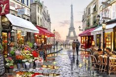 Cheap art pictures, Buy Quality picture for living room directly from China wall art picture Suppliers: Paris Street DIY Painting By Numbers Handpainted Canvas Painting Home Wall Art Picture For Living Room Unique Gift Paris Painting, Diy Painting, Painting Frames, Painting & Drawing, Street Painting, Painting Abstract, Painting Canvas, Painting Classes, Family Painting