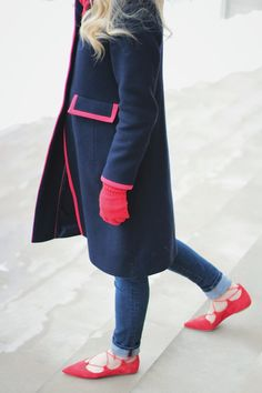 Red & Navy, Boden coat