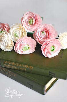 DIY crepe paper flowers, ranunculus.                                                                                                                                                                                 More