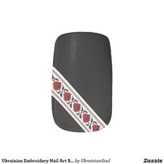 "CLICK ""MINX"" TO PURCHASE Ukrainian Embroidery Nail Art Roses Minx® Nail Art"