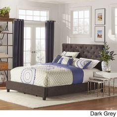 Sophie Tufted Queen Upholstered Bed by TRIBECCA HOME