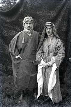 T.E. Lawrence and Lowell Thomas.