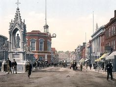 High Street, Maidstone, England. This color photochrome print was made between 1890 and 1900 in Maidstone, England.