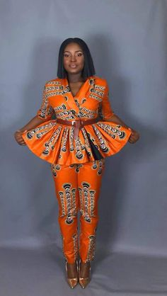 NEW IN:African print clothing African pants and peplum top African Fashion Ankara, Ghanaian Fashion, African Inspired Fashion, African Print Fashion, Fashion Prints, Women's Fashion, African Dresses For Women, African Print Dresses, African Attire