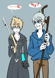 ❤ Roxas and Jack Frost ❄ The interesting thing is they both want to be really seen for them and find their purpose and want to be seen and not used. (in a way)