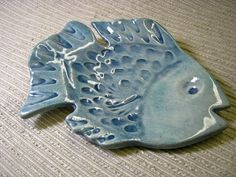 Fish Dish / Soap Dish / Butter Dish / Hors d'oeuvres by cyvonneh, $24.00