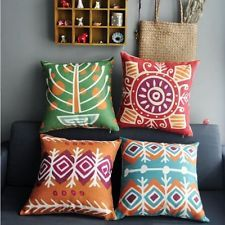 """Colourful Bohemian Style Home Decor Throw Pillow Case Cushion Cover Square 18"""""""