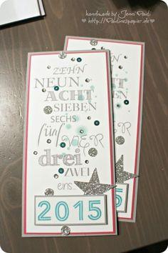Karte zum Jahreswechsel Neujahrsgrüße von Jenni Pauli