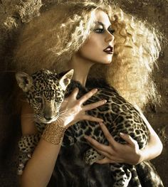"This is me in my next life--curly hair and straight teeth and holding a ""jagular""."