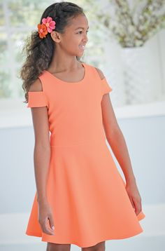 From CWDkids: Neon Open Shoulder Dress