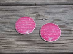 Hot Pink and White Typography  Print  2 Dresser by ReadinginRags, $4.00