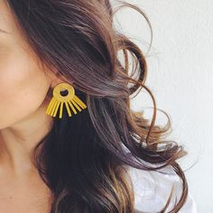 Just For You by Eleni Tsap makes the prettiest earrings! Here in beautiful yellow, one of our favourites. See them all on www.summeraddicts.com. #SummerAddicts #JewelryAddicts #jewelry #jewellery #earrings #yellow
