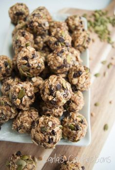 Carla's Confections: Sunflower & Pumpkin Seed No-Bake Energy Balls