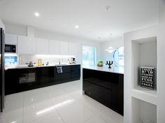 belle cuisine noire et blanche