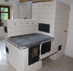 Kuchnia_0014 Old Stove, Pizza Oven Outdoor, Stove Fireplace, Rocket Stoves, House Design, Architecture, Storage, Interior, Tiny House