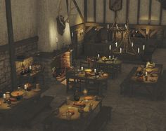 Medieval Tavern Test 1 by SnowSultan Bar Medieval, Medieval Castle, Medieval Fantasy, Fantasy Places, Fantasy World, Fantasy Art, Fantasy Setting, Fantasy Landscape, Story Inspiration