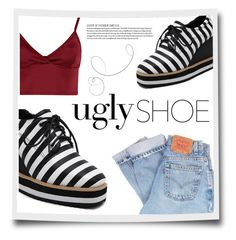"""""""Uglyshoe #2"""" by branca91 ❤ liked on Polyvore featuring Levi's and Lipsy"""